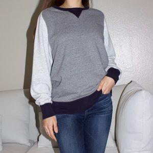 J.Crew Vintage Fleece Colorblock Sweatshirt